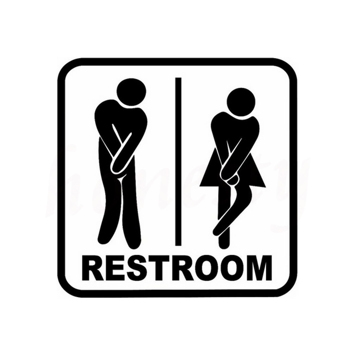 Restroom Sign Toilet Car Stickers For Wall Home Glass
