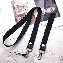 Ремешок на шею для держателей id карт с черными шнурками для офиса/ремень USB камера MP3 DIY телефон Висячие Стропы веревка