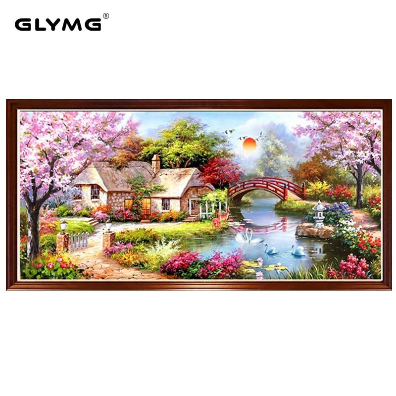 5D Diy Diamond Painting Dream Home Landscape Natural Scenery Embroidery Rhinestone Gift European Decor