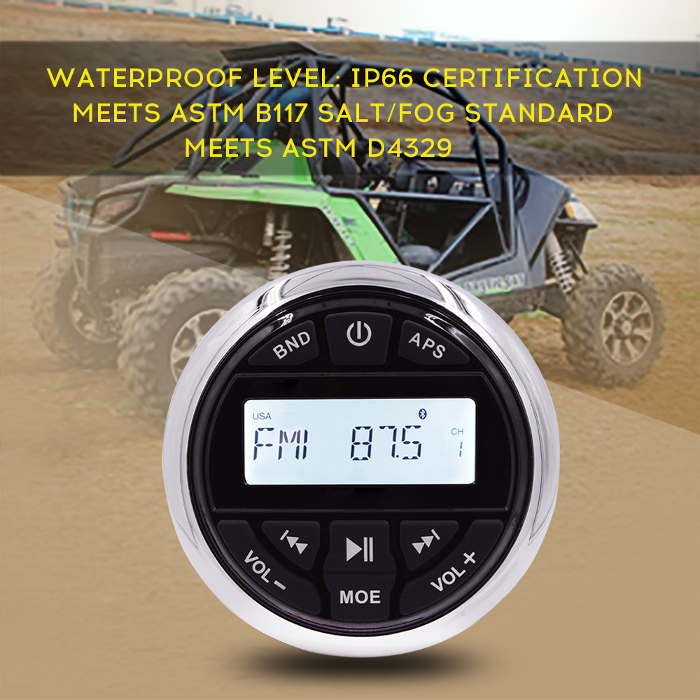 HASDA Marine Bluetooth Radio Receiver Waterproof Boat Stereo Head Unit MP3 USB FM AM