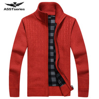 Afs JEEP New arrival Autumn Men's Sweaters Warm Winter Pullover Men's Warm Sweaters Casual Knitwear Fleece Velvet Clothing 60