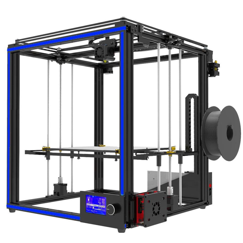 Più nuovo grande formato di stampa Tronxy X5S 3D Stampante Grande Area di Stampa CoreXY Sistema di struttura in alluminio 12864 P LCD 8G carta di DEVIAZIONE STANDARD