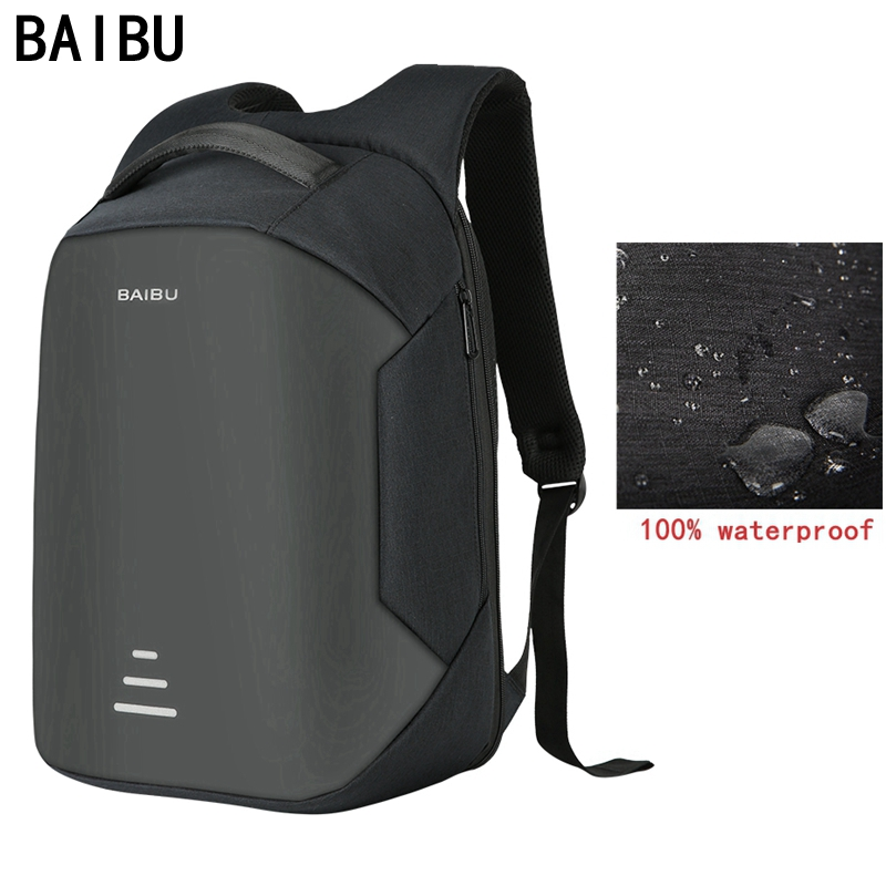 BAIBU New men 15.6 Laptop Backpack Anti Theft Backpack Usb Charging Women School Notebook Bag Oxford Waterproof Travel Backpack baibu men backpack usb charge notebook business 15 6 computer bag waterproof anti theft women travel school bags for teenagers