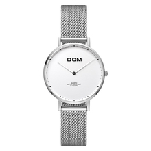 DOM Women Watches DOM Brand Luxury New Casual Waterproof Leather Dress Quartz-Watch Mesh Strap Clock Relogio Faminino G-36GK-1MS women s watches dom brand luxury casual leather quartz watch golden clock sapphire crystal waterproof relogio faminino g 86gl 7m
