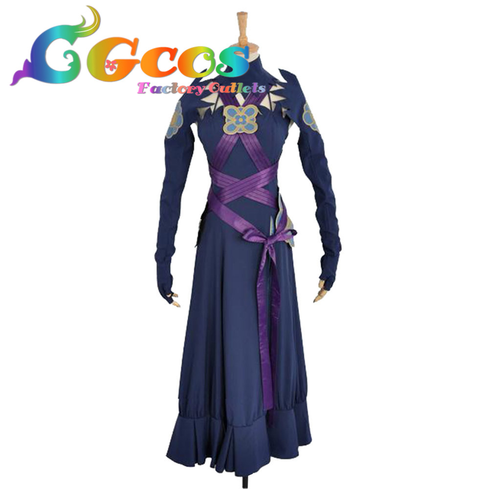 CGCOS Free Shipping Cosplay Costume Fire Emblem Awakening Fates Aqua Night Dress New Stock Retail/Wholesale Halloween Christmas