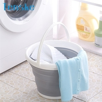Tenske folding bucket Multi-Functional Portable Folding Silicone Basin Wash Basin and Pots Cleaning tools*30 GIFT 2017