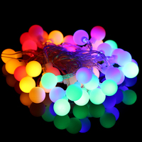 4M 40 LED RGB Warm White Ball String Lights AAA Battery Operated For Garden Halloween Wedding
