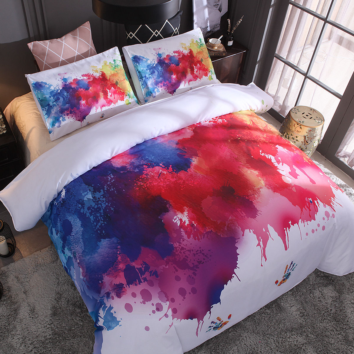 JaneYU Special For Splash Ink, Painted Stars, Digital Printing, Fast Selling Bedding, Two Or threePiece SetJaneYU Special For Splash Ink, Painted Stars, Digital Printing, Fast Selling Bedding, Two Or threePiece Set