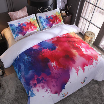 JaneYU Special For Splash Ink, Painted Stars, Digital Printing, Fast Selling Bedding, Two Or threePiece Set