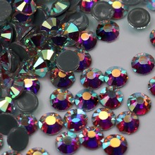 2058HF All Sizes Crystal Beauty AB Hot Fix Rhinestones Crystals Flatback Strass Iron Rhinestone For Clothes Bags Decoration