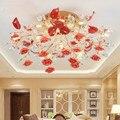 Европейский Хрустальный потолочный светильник современный простой керамический светильник для спальни ресторана гостиной креативный ска...