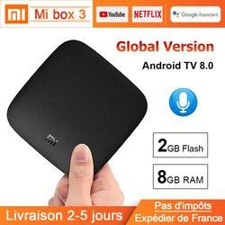Xiaomi MI BOX 3 Android TV 8.0 Smart WIFI Bluetooth 4K HDR H.265 Set-top TV Box Youtube Netflix DTS Xiaomi Media Player