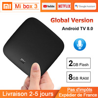 Xiaomi MI BOX 3 Android TV 8.0 Smart WIFI Bluetooth 4K HDR H.265 Set top TV Box Youtube Netflix DTS Xiaomi Media Player