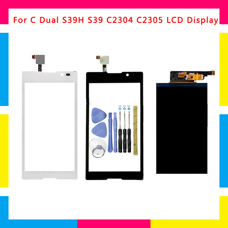Replacement High Quality LCD Display + Touch Screen Digitizer Sensor For Sony Xperia C Dual S39H S39 C2304 C2305 + Tool