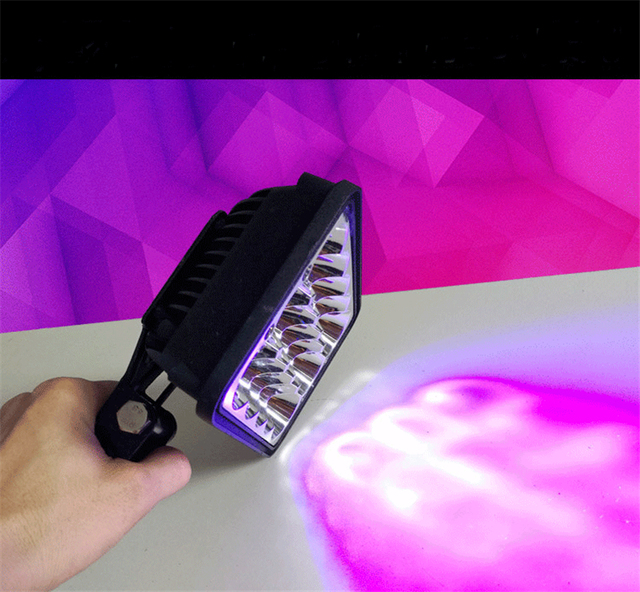 150W 365nw Wavelength Uv Curing Lamp LED Module Watercooler Glue Lamps  Green Oil Purple Hand Light