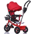 Rueda de goma de absorción de Impactos bicicleta niño cesta bebé niño cochecito de bebé 1-5 años de edad premolares bicicleta asiento giratorio clave