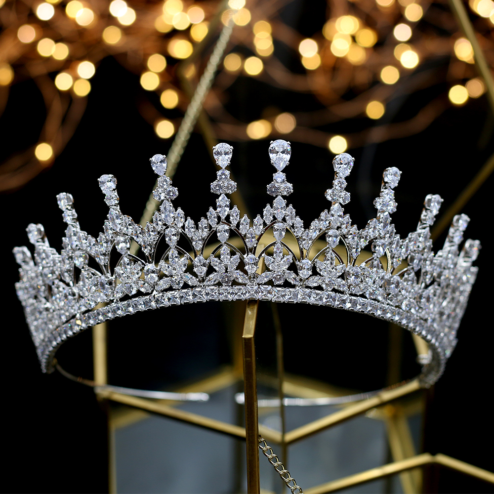 Image 2 - High quality crystal crown girl birthday graduation ceremony crown bride wedding hair accessories headdress Tiaras-in Hair Jewelry from Jewelry & Accessories