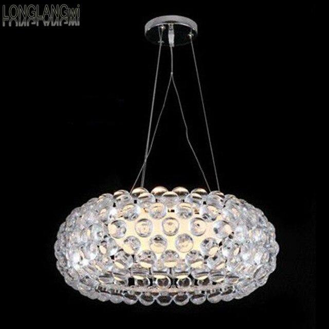 Free verzending ronde moderne kristallen hanglampen slaapkamer lamp ...