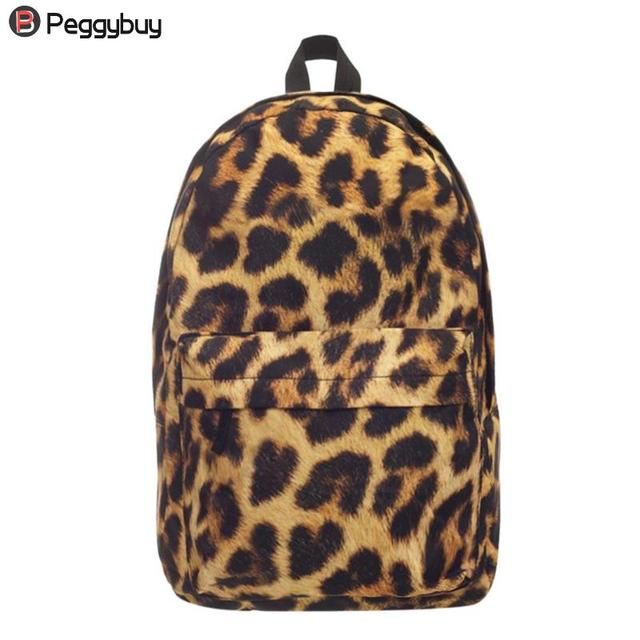 2018 Fashion Street Style Women 3D Leopard Printed Backpacks Teen Girls  Travel Shoulder School Backpack Mochila Feminina