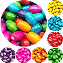 10*6/8*5/6*4mm 100 pcs/lot DIY Cheap Hot Fashion Beads Handmade Colored Natural Wood Beads For Bracelet Necklace Jewelry Making(China)