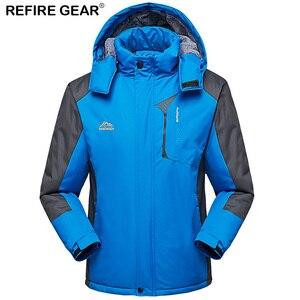 ReFire Gear gruesa de invierno de chaqueta de lana de los hombres al aire libre de las mujeres al aire libre deporte impermeable de terciopelo cálido abrigo excursión camping senderismo pesca chaquetas