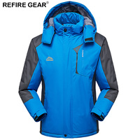 Refire Gear Winter Thick Fleece Jacket Men Women Outdoor Waterproof Sport Warm Velvet Coat Hike Camping Trekking Fishing Jackets