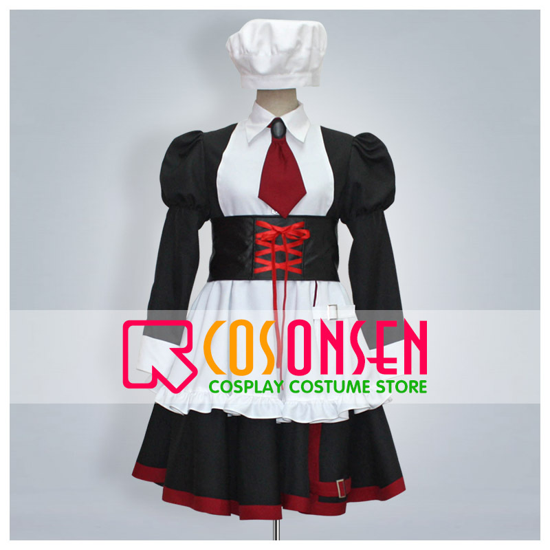 COSPLAYONSEN Umineko no Naku Koro ni Shannon Cosplay Costume With Hat Any Size Custom Made