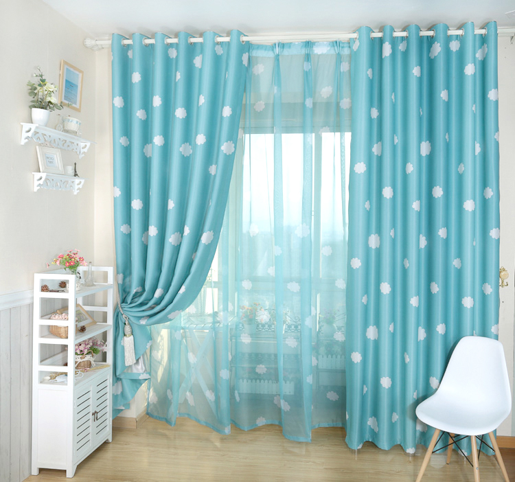 hot sale vorhang blackout 3d curtains cloud tenda vorhang blackout window curtains vorhang Curtains for living room bedding room in Curtains from Home Garden