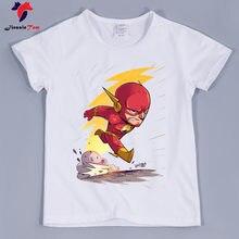 f7ee18740 2018 Kids The Flash Superhero Design Funny T-Shirts Boy and Girls Short  Sleeve Cartoon Tee Shirts Superman Funny Top For Baby