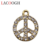 Buy peace sign charms and get free shipping on aliexpress lacoogh retro 10pcs round peace sign charms pendants audiocablefo