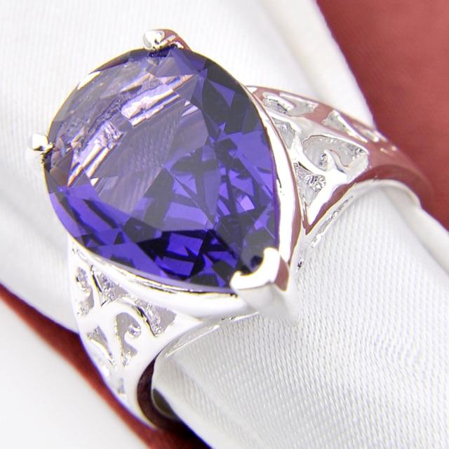 Shine Promotion Jewelry Round Created Purple Quartz Silver Plated