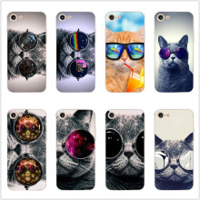 Cat with glasses Soft silicone phone case For iPhone 6 7 8 6s plus XR X XS max 5 5S se Funny pet pattern TPU shell cute Coque цена и фото