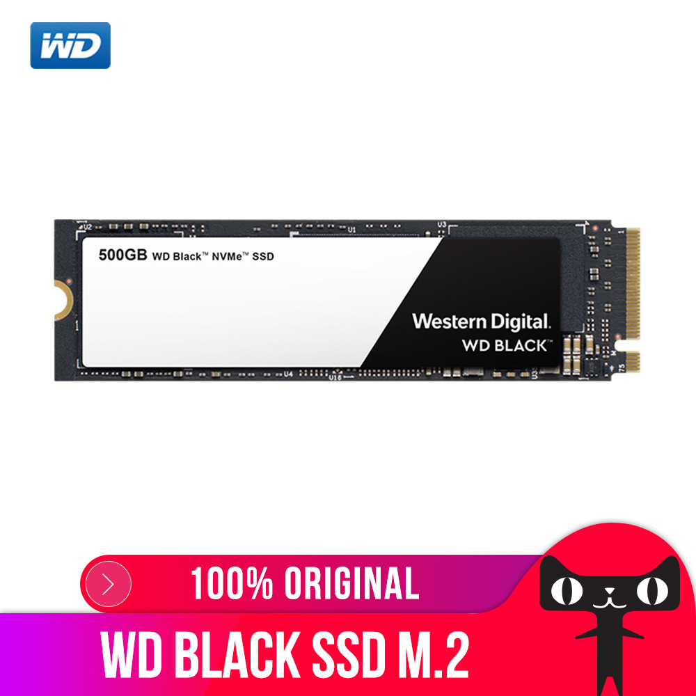 DEO SSD Noir NVMe 3D NAND 500 GB M.2 2280 SSD WDS500G2X0C Solide State Drive Disque 3400 MO/S PCIe Gen3 8 Gb/s pour PC Ordinateur Portable notebook