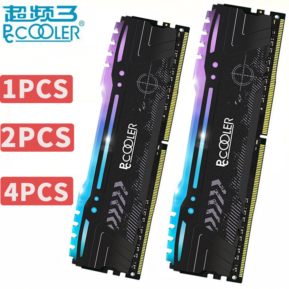 pccooler 8GB 8G PC Memory RAM Memoria Module Computer Desktop DDR4 ECC PC4 2666Mhz 3200Mhz 2666 3200 RAM 8GBX2=16GB RGB RAM corsair vengeance lpx 8gb 8g ddr4 pc4 3000mhz pc computer desktop ram ecc memory 8gb ram