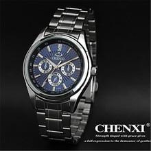 Marca de lujo CHENXI Cuarzo de Los Hombres Vestido relojes de Pulsera A Prueba de agua de Acero Inoxidable Completa Retro Hombre de Negocios Relojes de Regalo de Los Hombres