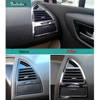 2 Pcs DIY Car Styling ABS Dashboard Beside Air Vent Light Sticker Cover Case Stickers For