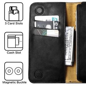 Image 2 - FLOVEME étui pour iphone en cuir véritable 7 6 6 S Plus pour Samsung S6 S7 edge Huawei P9 P10 Plus Xiaomi Capa