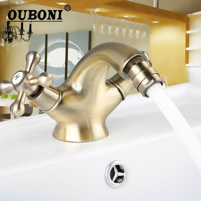 Antique Brass Solid Brass Bidet Faucet Nickel Polished Brass Finish Swivel Stream Spout Bathroom Basin Faucet Mixer Tap ydl f 0538 polished nickel finish solid brass spring pull out kitchen faucet antique silvery