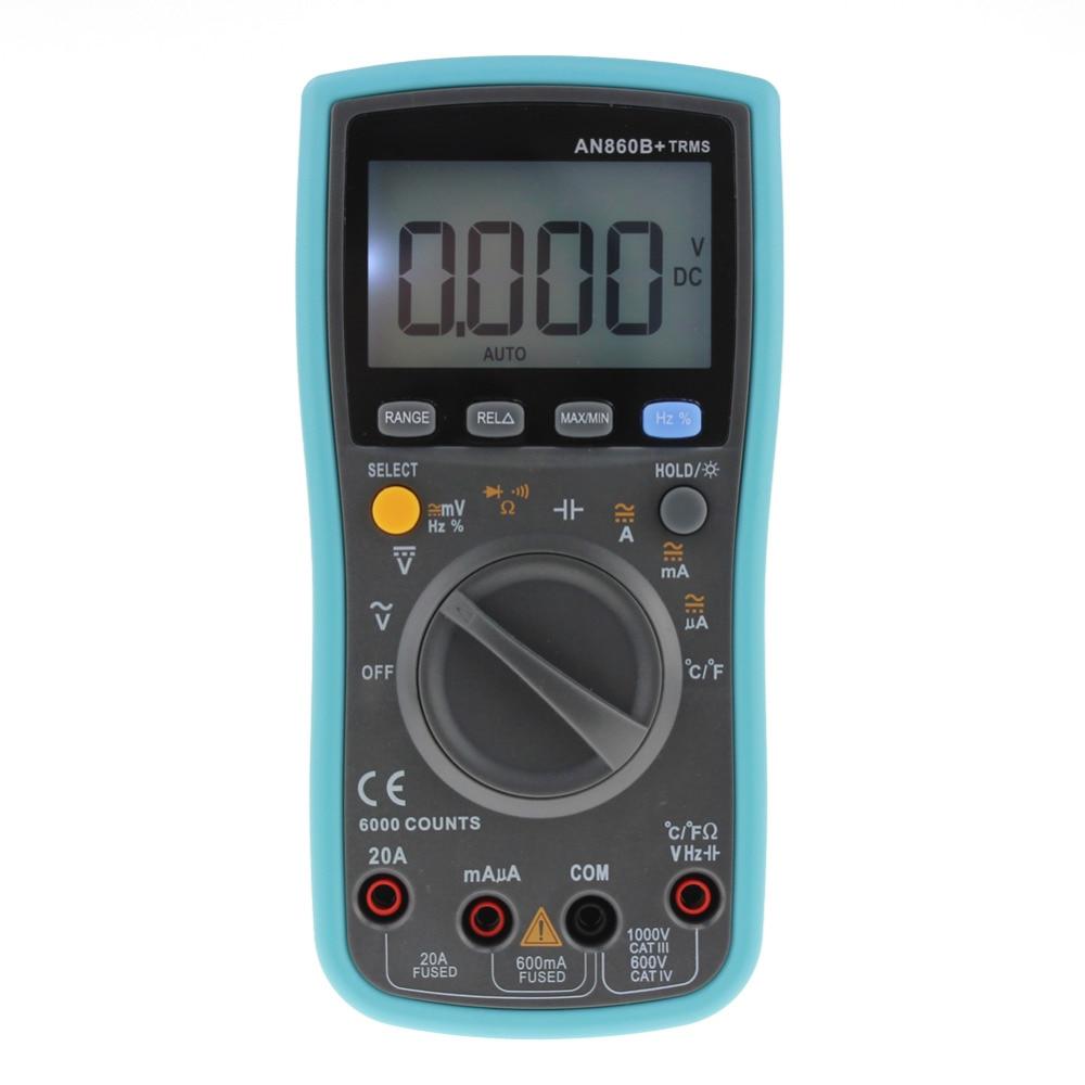 Digital TRMS Multimeter 6000Counts Backlight AC DC Ohm Voltmeter Temperature Auto Range Ammeter High Quality portable lcd digital multimeter ac dc current ohm voltmeter temperature auto range ammeter 6000 counts backlight