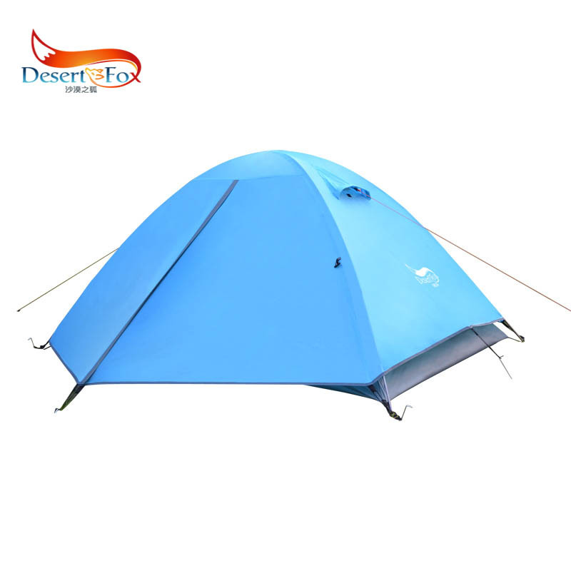 DesertFox Double  windproof warm aluminum bar tent professional outdoor rain camping tent aluminum bar camping tent wholesale high quality outdoor 2 person camping tent double layer aluminum rod ultralight tent with snow skirt oneroad windsnow 2 plus