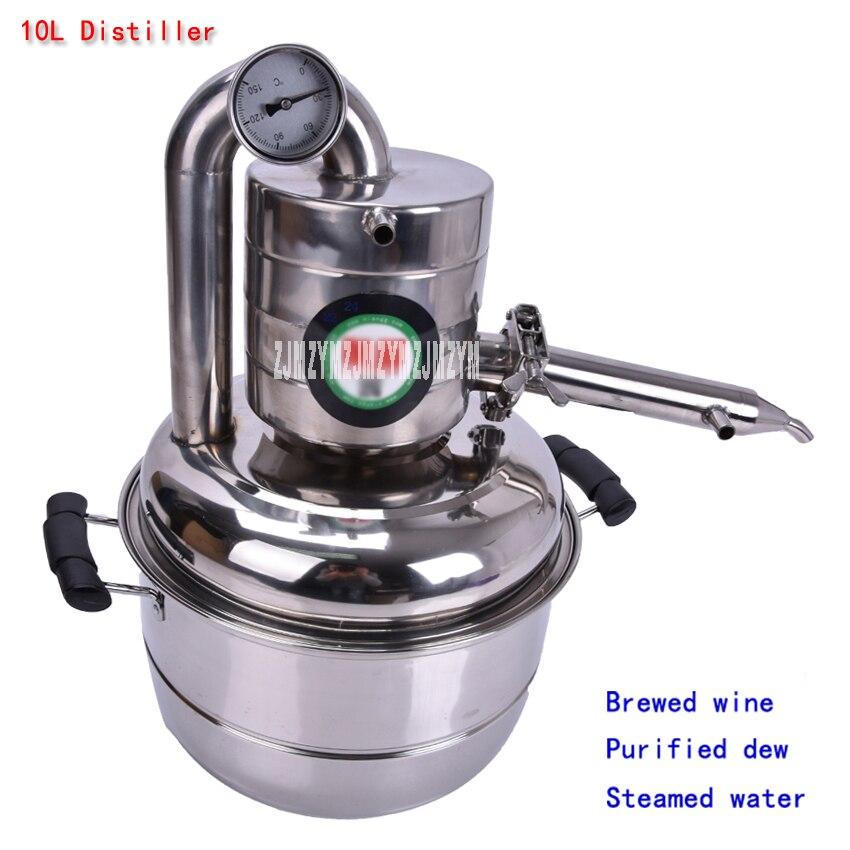10L Distillateur Barre D'acier Inoxydable d'équipement Ménager vin limbeck l'eau distillée baijiu vodka fabricant bière alcool whisky