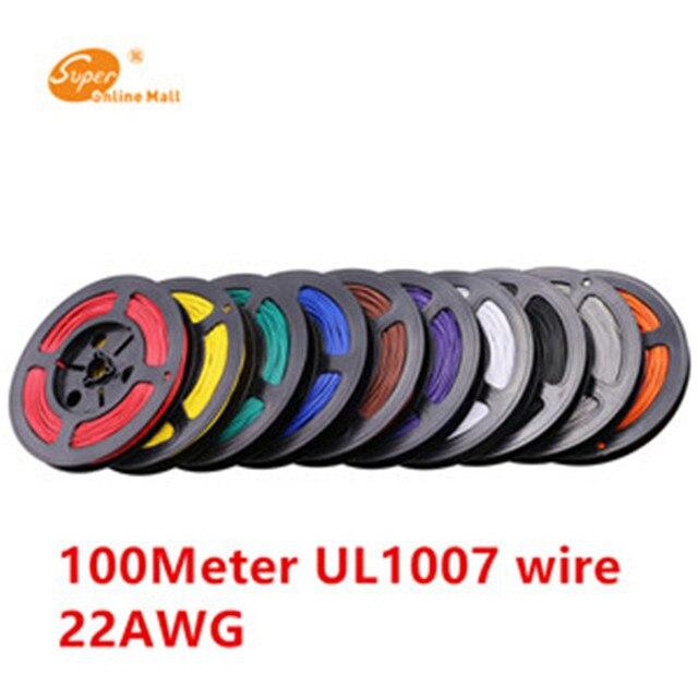 100 Meter 1007 22 AWG Kabel Kupferdraht Rot/Blau/Grün/Schwarz 22awg ...