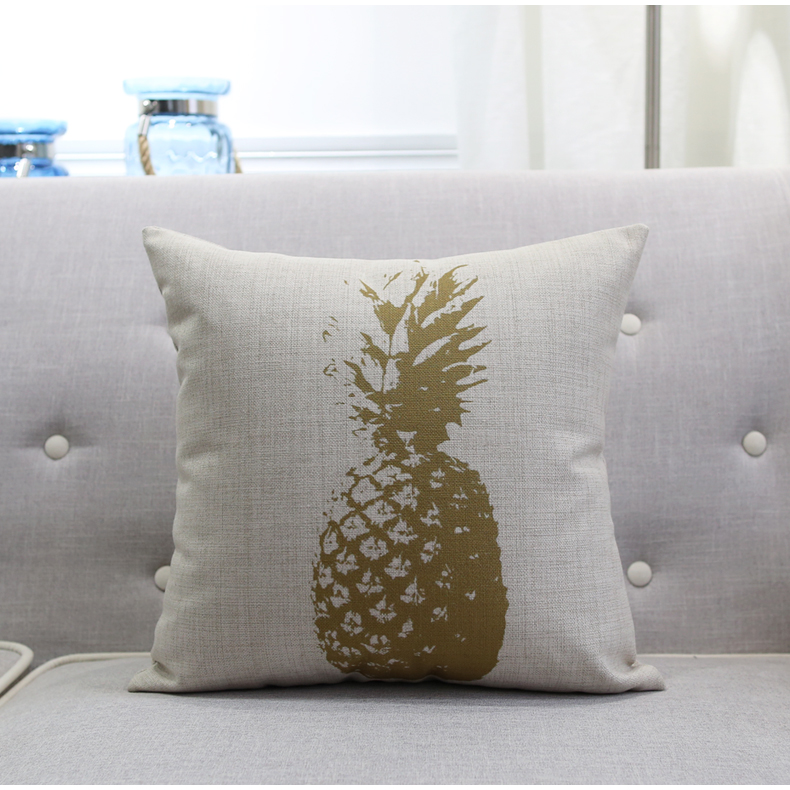 Cute Gold Pillow : Cute Pineapple pillow Bear Palm Cushion Covers,Geometric Gold Throw Pillow Case, Couch Seat ...