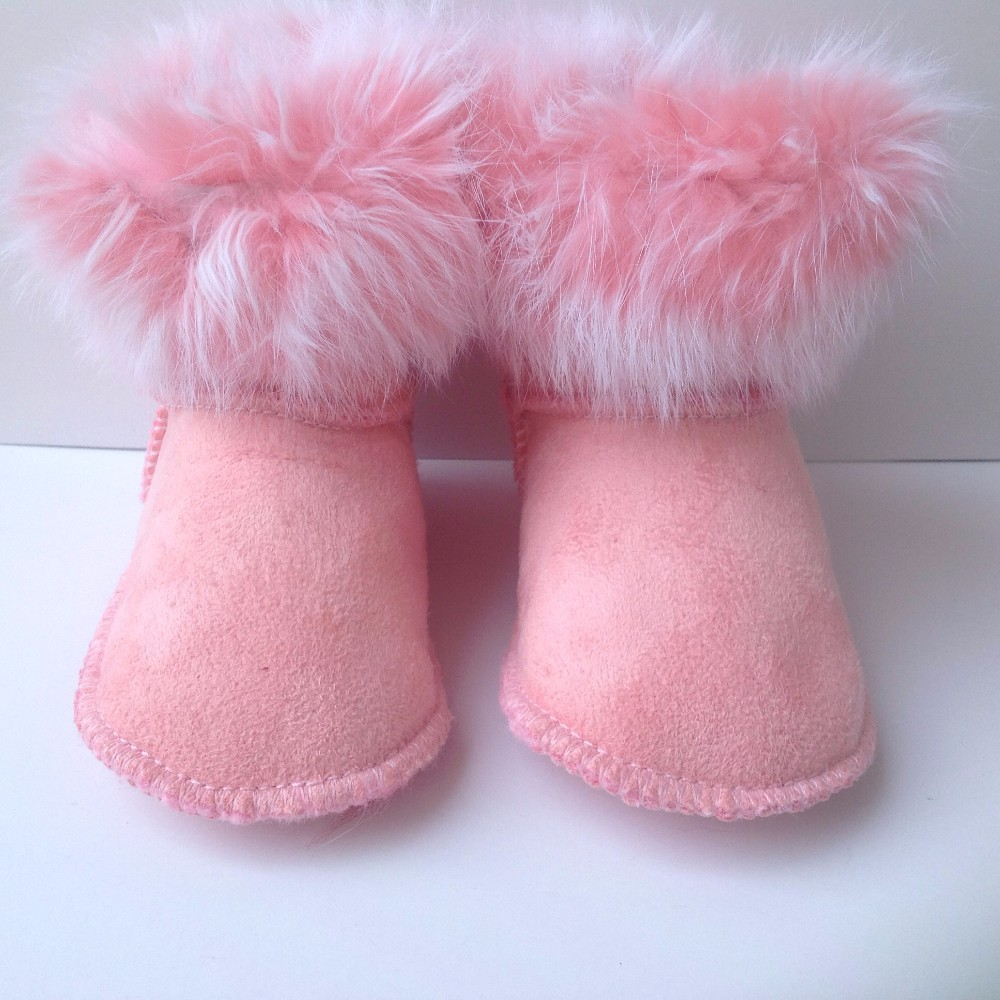2019  Winter 11-colors Snow Baby Boots With Fur Brand Baby Shoes First Walkers Soft Sole Shoe Newborn Baby Girls Boys Shoes