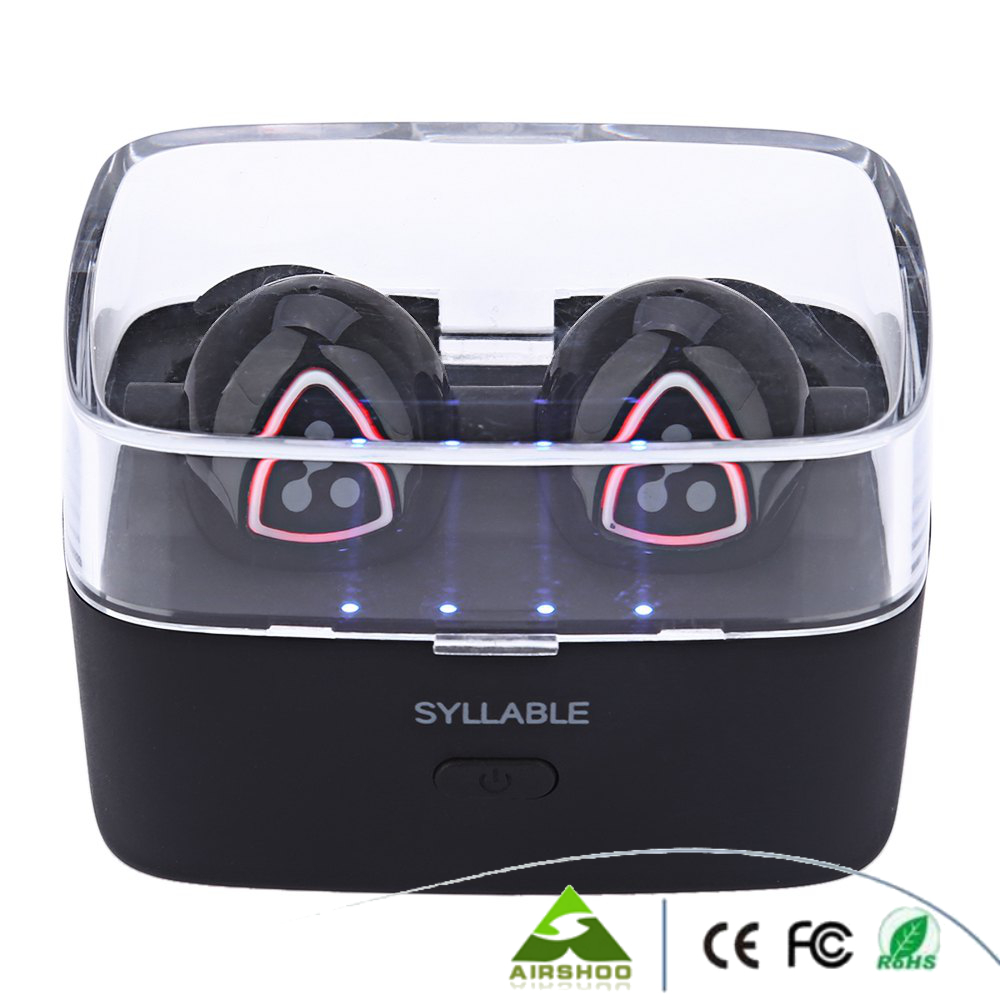 Syllable D900S Të dyfishtë Kufje Smart Smart Binaural Bluetooth 4.1 - Audio dhe video portative - Foto 4