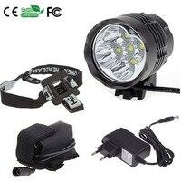 פנס & אור 7000 הלום 5x CREE XM-L T6 LED אופני אופניים אור מנורת פנס + 8.4 V 6400 mAh סוללות + מטען + סרט