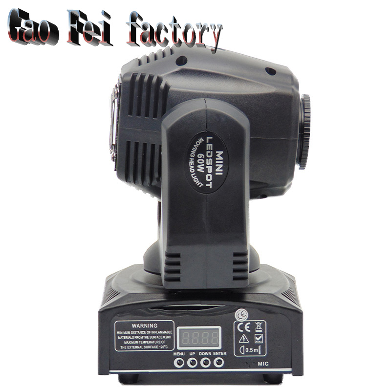 Led Moving Head Light 60w Led Spot Light With Gobo Color Wheel 11chs