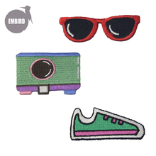Embird patch Embroidered patches cute Travel with sunglasses and cameras ceo-fri