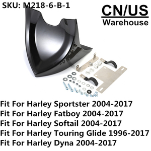 Image 5 - Motorcycle Lower Front Spoiler Air Dam Fairing Cover For Harley Sportster 883 1200 2004 2018 Fatboy Softail Touring Glide Dyna