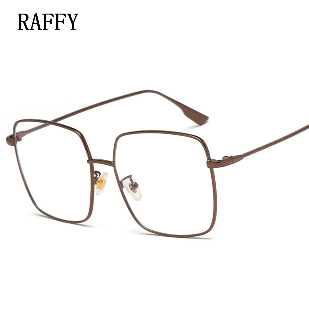 4fd5180b196d Aliexpress.com : Buy Big Square Metal Eyeglasses Women Vintage Student Frame  Glasses Women Eyeglasses Female Frames Eyewear Spectacle Glasses Oculos  from ...